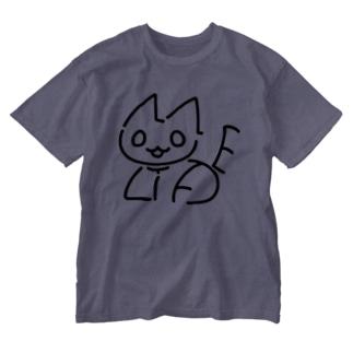 NO CAT NO LIFE 香箱 Washed T-shirts