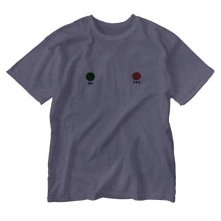 スイッチ オン オフ Washed T-shirts
