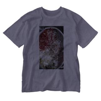 辣油レシピ Washed T-shirts