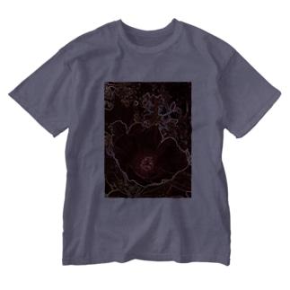 芙蓉 DATA_P_154 Confederate Rose ハスの花の古名 Washed T-shirts