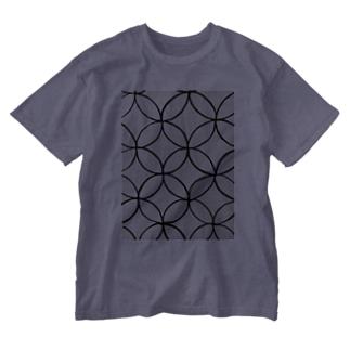 手描き屋の七宝 墨 Washed T-Shirt