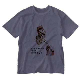 唐揚げ Washed T-shirts