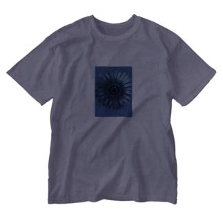 青い花 Washed T-shirts