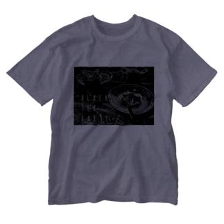 黒の茶会 Washed T-shirts
