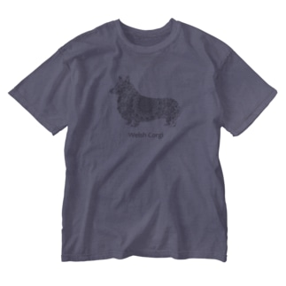 花月 コーギー Washed T-shirts