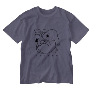 いぬけん「むっ」 Washed T-shirts