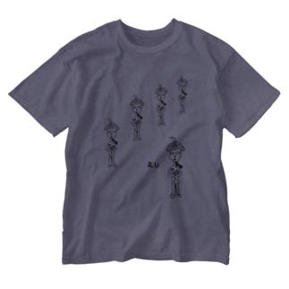 画伯シリーズ『えじ』 Washed T-shirts