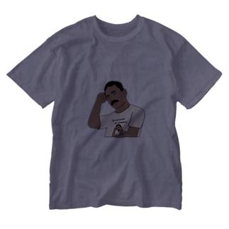 夏の文豪Tシャツを着た夏の文豪(濃色用) Washed T-shirts