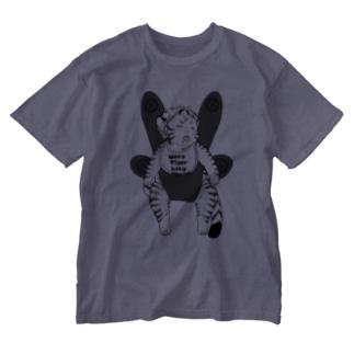 おねんねワータイガーベビー(抱っこ白黒) Washed T-shirts