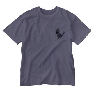ポッポ Washed T-shirts