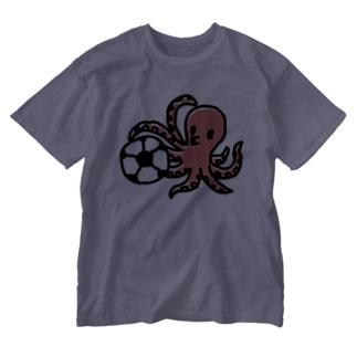 タコサッカー01 Washed T-shirts