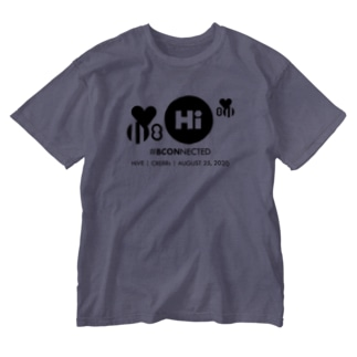 【チャリティ】HiVE | CRE8Rs ウォッシュTシャツ(BLKプリント) Washed T-shirts