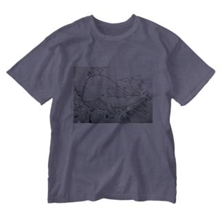 海のなかまたち Washed T-shirts