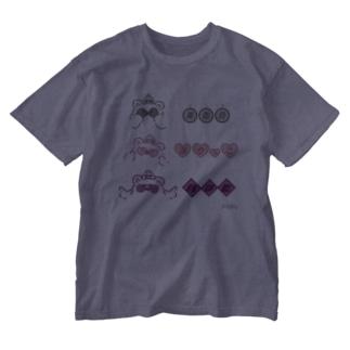 グラサン Washed T-shirts