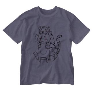 トラの威を借り切れてない狐。その① Washed T-shirts