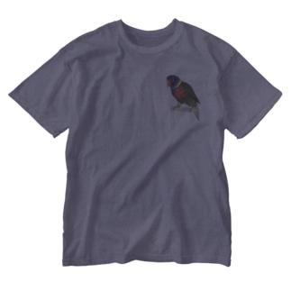 色合いが綺麗なゴシキセイガイインコちゃん【まめるりはことり】 Washed T-shirts