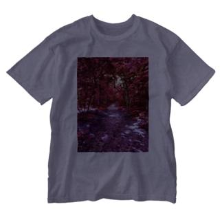 紅の森 Washed T-shirts