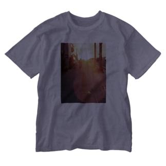 夕焼けパワーでほんわか! Washed T-shirts