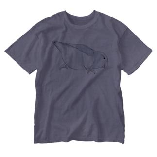 マメルリハ もちふりちゃん【まめるりはことり】 Washed T-shirts