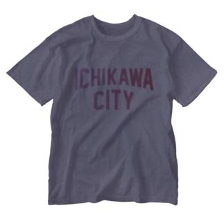 市川市 ICHIKAWA CITY Washed T-shirts