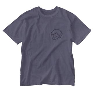 ミニマルシリーズ 口紅塗られた男の子Tシャツ Washed T-shirts