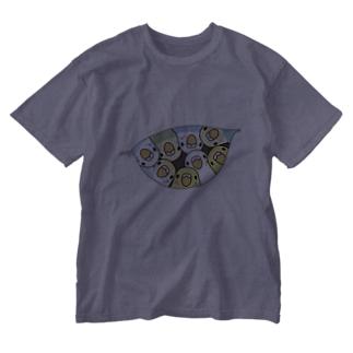 三密です!むちむちセキセイインコさん【まめるりはことり】 Washed T-shirts
