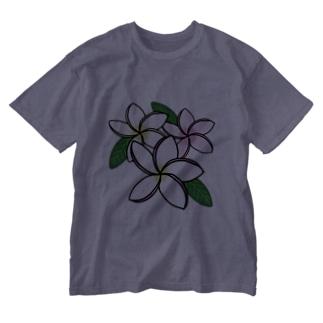 プルメリア三姉妹♪ Washed T-shirts