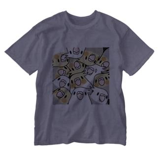 まめるりはことりのみっちりむっちり過密オカメインコさん【まめるりはことり】 Washed T-shirts