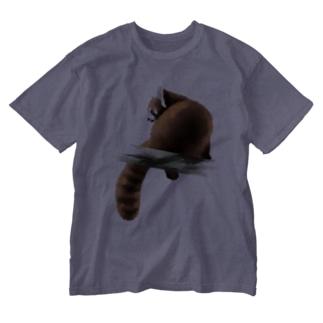 Animals シリーズ 〜レッサーパンダ〜 Washed T-shirts