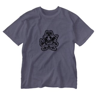 八雲斎条(黒) Washed T-shirts