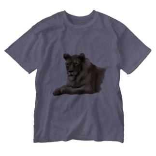 Animals シリーズ 〜ライオン〜 Washed T-shirts