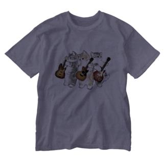 君のために歌う「ニャー」 Washed T-shirts