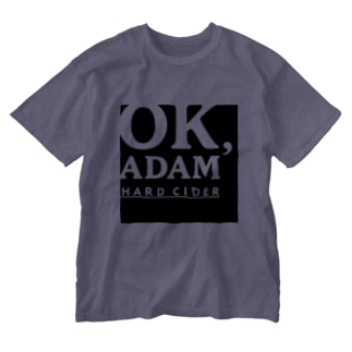 Hostel&Bar CAMOSIBA OfficialのOK,ADAM logo paleT Washed T-shirts