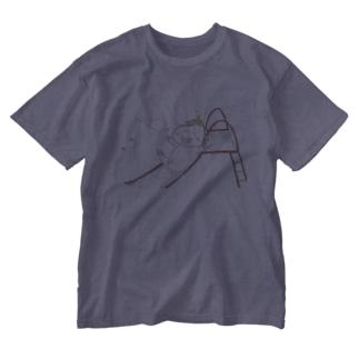 ユニコーンのすべり台 Washed T-shirts