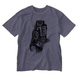 喪服の中年 Washed T-shirts