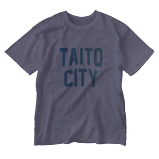 台東区 TAITO CITY ロゴブルー Washed T-shirts