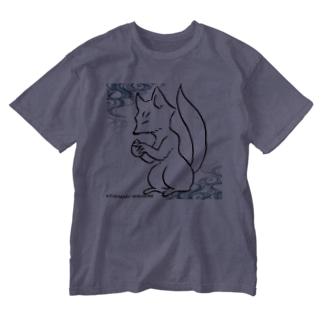 宝珠狐_流水 Washed T-shirts