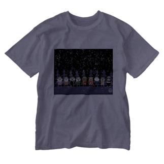 長与 千種 Chigusa Nagayoのマーベルドッグス笠地蔵 Washed T-shirts