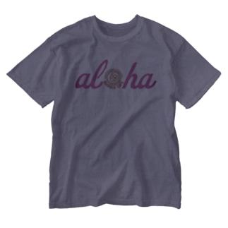 カイホロカフェ アロハロゴ Washed T-shirts