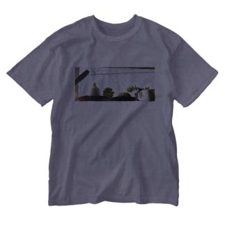 白文鳥のチマフミ Washed T-shirts
