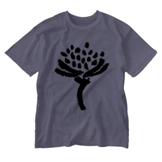 minachape STOREの墨の花 Washed T-shirts