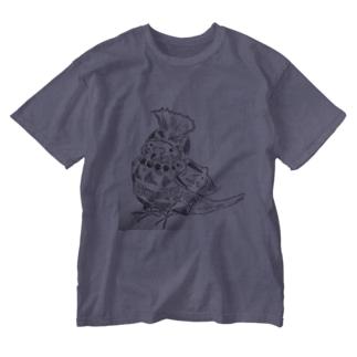 武装インコ  Washed T-shirts