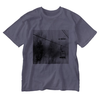 リフト+a skier  Washed T-shirts
