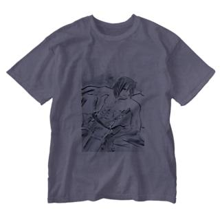 アース Washed T-shirts