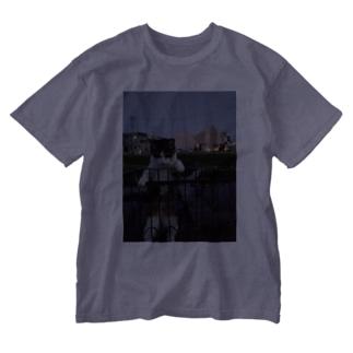 ながしっぽ type.H Washed T-shirts