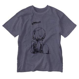 ゆののC1/C1 (purple) Washed T-Shirt