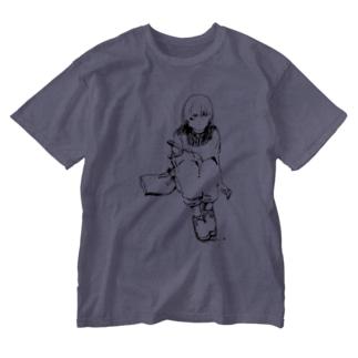 ゆののC1/C1 (black) Washed T-Shirt