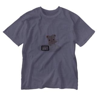 ほぼ動物園のクッキーとクマさん Washed T-Shirt