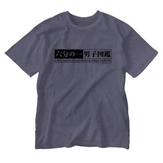 六分の一男子図鑑 Washed T-shirts