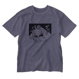 うさ子(ブロックパーリナイ) Washed T-shirts